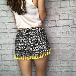 Anthropologie Shorts - NWT Anthro THML yellow tassel soft shorts